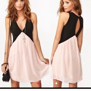ASOS 2 tone pink / black dress!